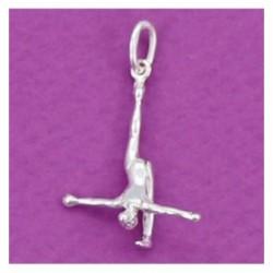 Colgante plata,gimnasta Aerobic equilibrio