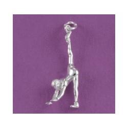 Colgante plata,gimnasta Aerobic