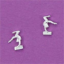 Pendientes plata gimnasta barra